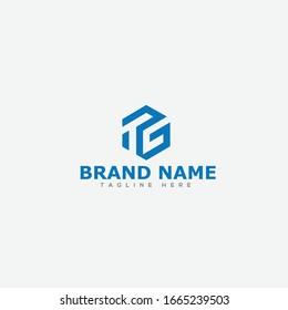initial letter logo TG, GT, logo template
