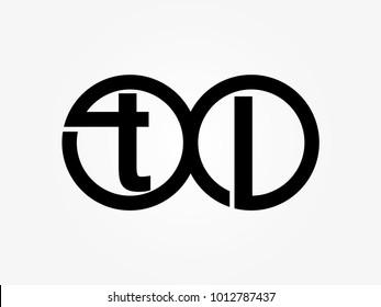 Initial letter logo tl lowercase thunder vector design