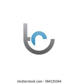 initial letter logo tr, rt, r inside t rounded lowercase blue gray