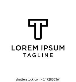 initial letter logo TU, UT, logo template