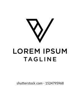 initial letter logo VB, BV logo template