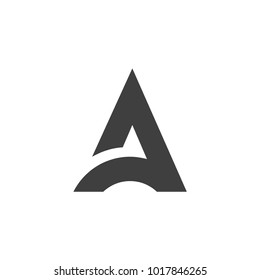 Initial letter A logo vector design template