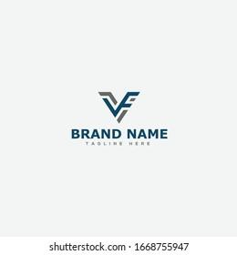 initial letter logo VF, FV, VFI logo template