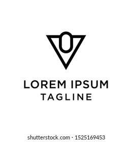 initial letter logo VO, OV logo template