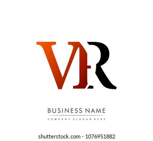 initial letter logo VR colored red and black, Vector logo design template elements for your business or company identity