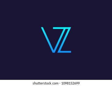 initial letter logo VZ, logo template
