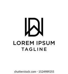 initial letter logo WD, DW logo template