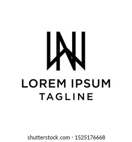 initial letter logo WN, NW logo template