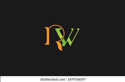 initial letter logo wr, rw, logo template