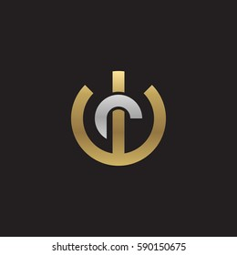 initial letter logo wr, rw, r inside w rounded lowercase logo gold silver
