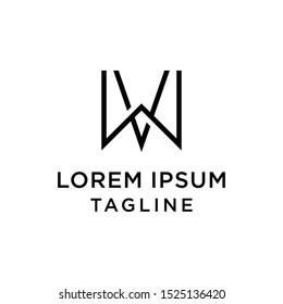 initial letter logo WV, VW logo template