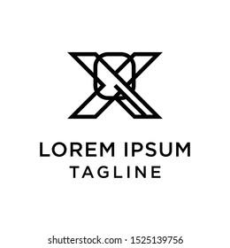 initial letter logo XQ, QX logo template