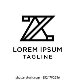 initial letter logo ZA, AZ logo template