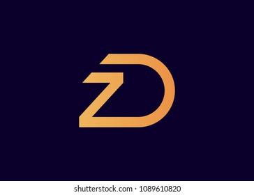 initial letter logo ZD, DZ, logo template