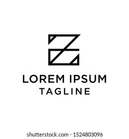 initial letter logo ZE, EZ logo template