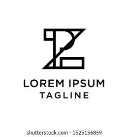 initial letter logo ZP, PZ logo template