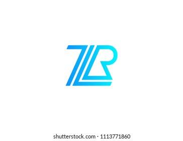 Initial letter logo ZR, RZ, logo template