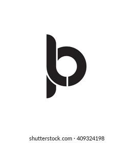 initial letter lp linked round lowercase monogram logo black