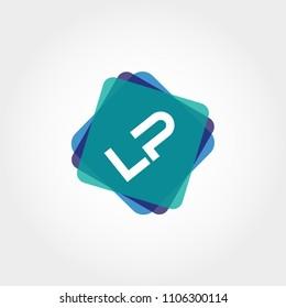 Initial Letter LP Logo Template Vector Design