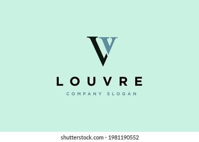 Initial letter LV logo design vector illustration. letter LV business consulting logo design template element