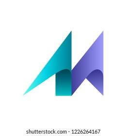 Initial letter M business logo design