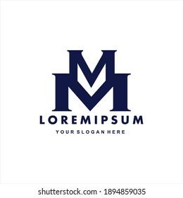Initial letter M logo symbol. M design element, initial Letter M logo Icon, Initial Logo Template