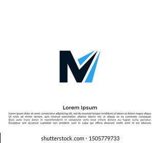 Initial Letter M Logo vector Design Template