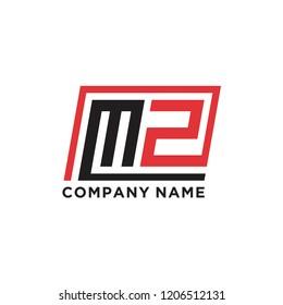 Initial letter M Z logo template vector