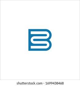 Initial letter mb logo or bm logo vector design template