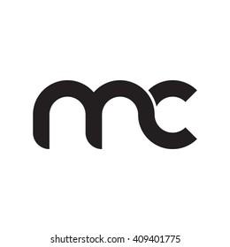 initial letter mc linked round lowercase monogram logo black