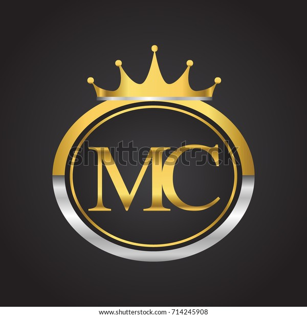 Initial Letter Mc Logotype Company Name Stock Vector