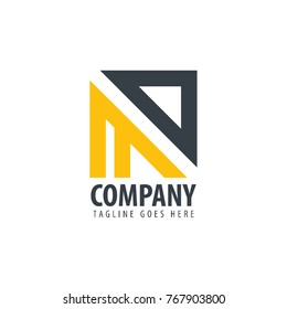 Initial Letter MD Design Logo
