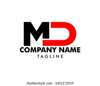 Initial Letter MD Logo Template Design