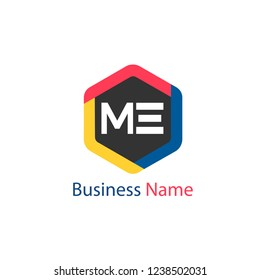 Initial letter ME logo template
