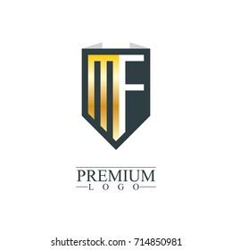 Initial Letter MF Company Design Logo Template