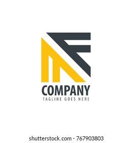 Initial Letter MF Design Logo