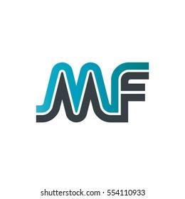 Initial Letter MF Linked Design Logo