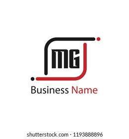 Initial Letter MG Logo Template Design