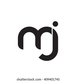 initial letter mj linked round lowercase monogram logo black