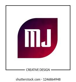 Initial Letter MJ Logo Template Design