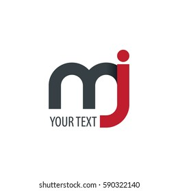 Initial Letter MJ Rounded Lowercase Logo
