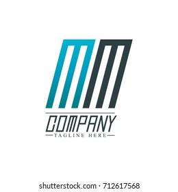 Initial Letter MM Design Logo Template