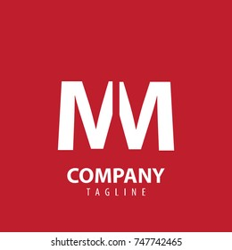 Initial Letter MM Design Logo