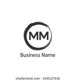 initial letter mm logo template