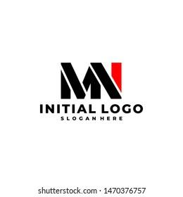 Initial Letter MN Logo Template Design.