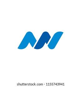 Initial letter MN, NN Logo design