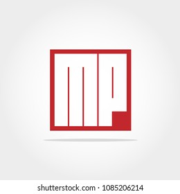 Mp images stock photos vectors shutterstock initial letter mp logo template spiritdancerdesigns Images