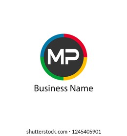 Initial Letter MP Logo Template Design