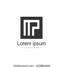 Initial Letter MP Logo template design. Minimalist letter logo vector design