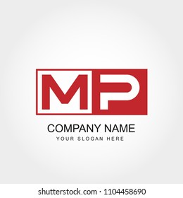 Initial Letter MP Logo Vector Design